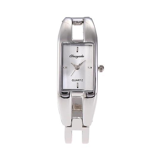 SJXIN Reloj Elegante Reloj de la Manera Mujeres Aleación Estudiante Pulsera Reloj Vida Impermeable Slingshot Ladies