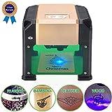 Suteck Laser Engraving Machine 3000MW Mini Laser Engraver Printer Working Area 7.5X7.5CM USB DIY Carving Wood Logo Desktop Laser Engraver