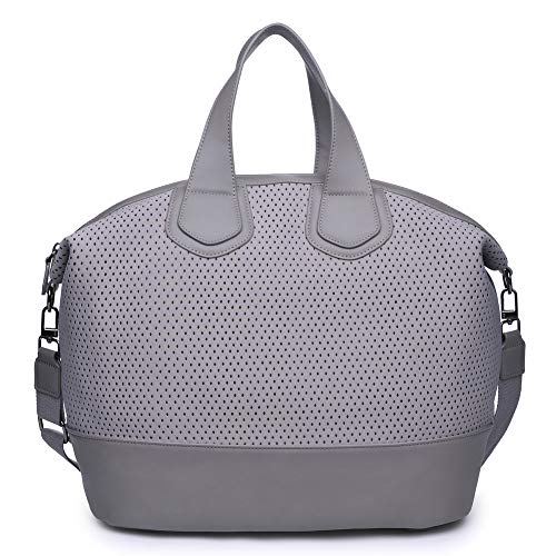 Sol and Selene Women's Dream Big Tote Gym, Grey One Size 16' Satchel Tote Bag