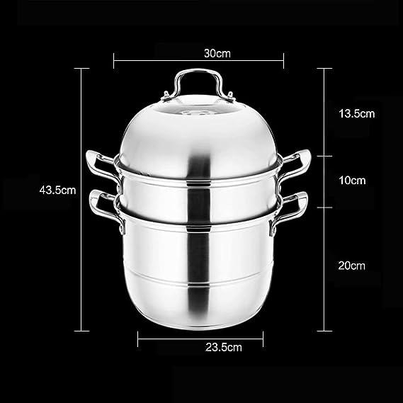 Amazon.com: HIZLJJ - Vaporera de 3 niveles de acero ...