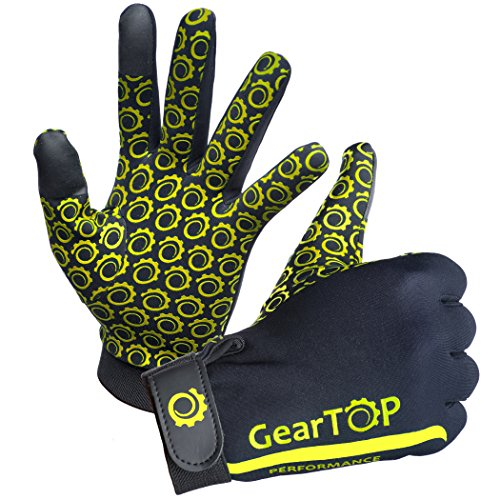 Multifunction Thermal Touch Screen Gloves - Great for Running, Rugby, Cycling, Golf, Football, Hunting, Walking + FREE Gift! (Yellow, Medium)