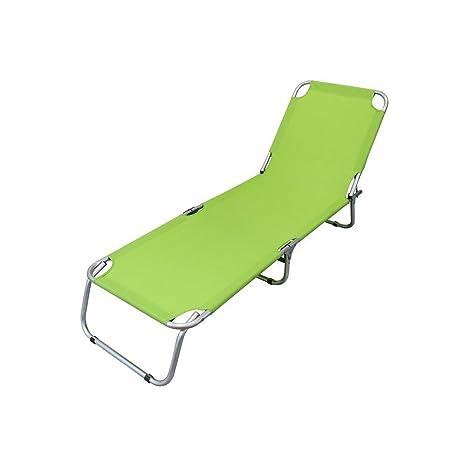 Lettino Sdraio In Alluminio.Brandina Lettino Sdraio Pieghevole Alluminio E Oxford Verde Lime Per