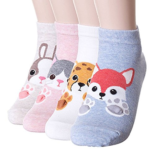 Happytree Women Pet Animal Cartoon Print Crew Socks ()