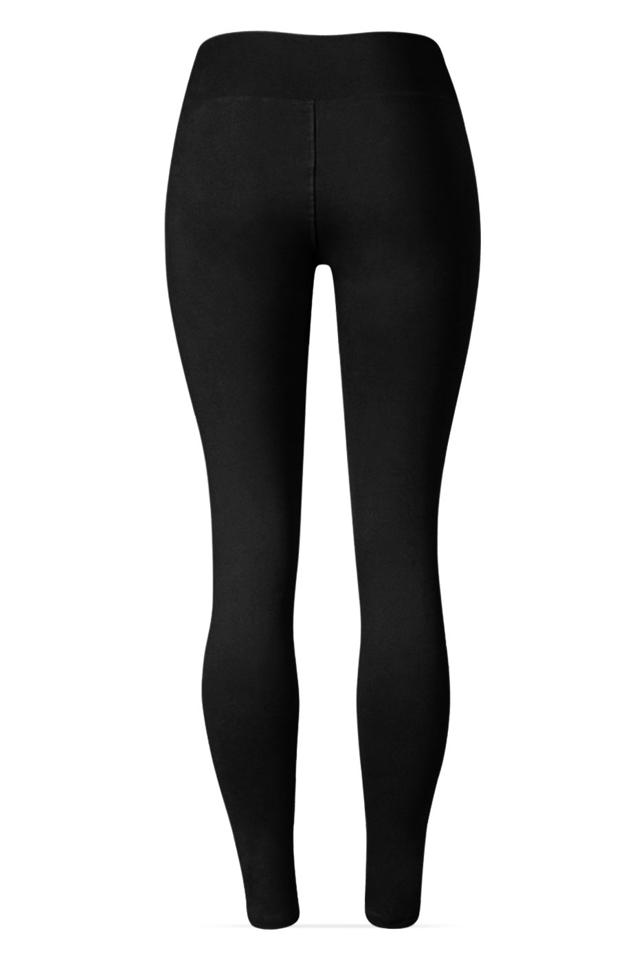 SATINA High Waisted Leggings – 22 Colors – Super Soft Full Length Opaque Slim (One Size, Black) by Sejora (Image #4)