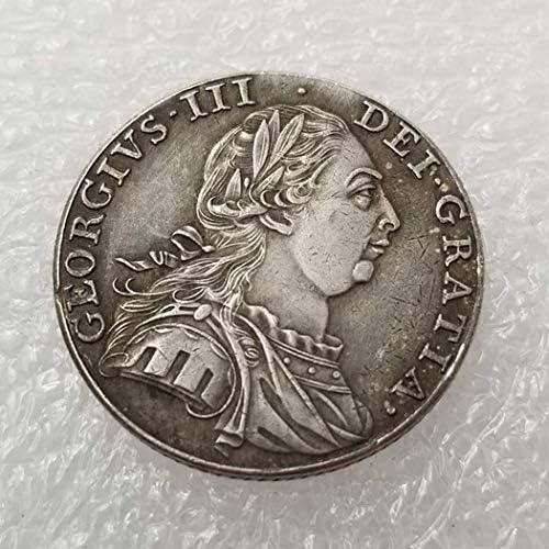YunBest 1787 Moneda de chelín del Reino Unido 1 - Moneda de Plata Antigua británica - Colección de Monedas Antiguas de dólar de Plata - Sin circulación/Estado Coleccionable BestShop: Amazon.es: Hogar