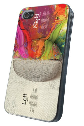iphone 4 4S Funky Brain Art Funny Fashion Trend Design Design Hülle Case Back Cover Metall und Kunststoff-Löschen Frame