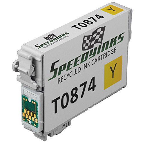 Speedy Inks - Remanufactured Yellow Ink for Epson 87 T087420 for use in Epson Stylus Photo (T087420 Yellow Ink)