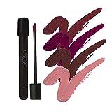 Makeupbox 4 Labiales Matte Larga Duración Glam Collection lip gloss endless Matte 12-horas Touch-proof libres de plomo, conservadores y parabenos,cruelty free