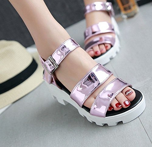Mee Shoes Damen süß Lackleder Slingback open toe Sandalen Pink