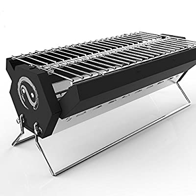 Grekitchen BBQ Grill?Charcoal grill?Foldable and Portable Outdoor Grill with Carry Bag?A Perfect Gift for Barbecue Lovers from Gre Lifestore