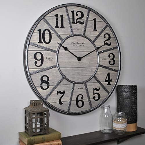 FirsTime Co. 27 Cooper Wall Clock, Gray Galvanized