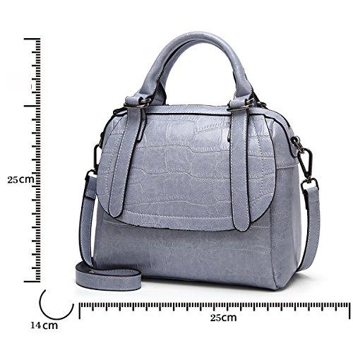 a borsa Tisdaini borse donna borse tracolla pelle Blu a in borsetta da spalla borse axfAqZ