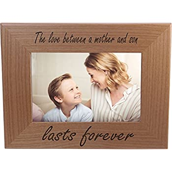 the love between a mother and son lasts forever 4x6 inch wood picture frame great - Mother Frame