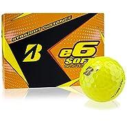 Bridgestone e6 Soft Yellow Personalized Golf Balls