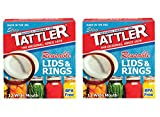 reusable canning jars - Tattler Reusable Wide Mouth Canning Jar Lids & Rubber Rings - 2 Packs - Total of 24 each Reusable Rubber Gasket Rings and Plastic Lids for Wide Mouth Canning Jars