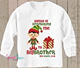 Big Brother Shirt Santa is Promoting me to Big Brother Shirt Long Sleeve Christmas Pregnancy Announcement Shirt