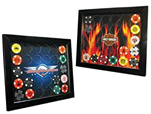Harley-Davidson Poker Chip Frame, Made in USA 6924