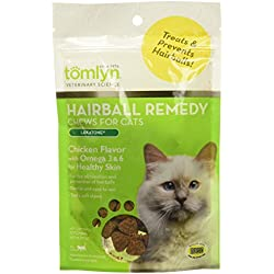 TOMLYN Laxatone Soft Chews Hairball Formula Cat Treat 60 Count, 3.17oz(90g)