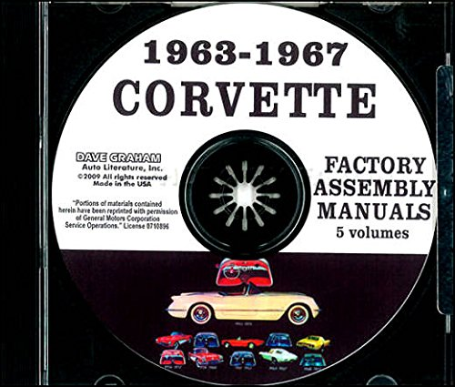 COMPLETE & UNABRIDGED 1963 1964 1965 1966 1967 CHEVROLET CORVETTE FACTORY ASSEMBLY INSTRUCTION MANUAL CD IN 5 VOLUMES - INCLUDES ALL MODELS. 63 64 65 66 67. CHEVY (1966 66 Chevy Corvette)