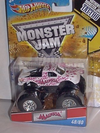 2011 HOT WHEELS 1:64 SCALE PINK RIBBON ~ MADUSA ~ TATTOO MONSTER JAM TRUCK #48/80