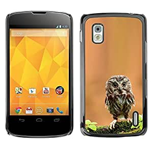 YOYO Slim PC / Aluminium Case Cover Armor Shell Portection //Cute Curious Mini Owl //LG Google Nexus 4 by icecream design