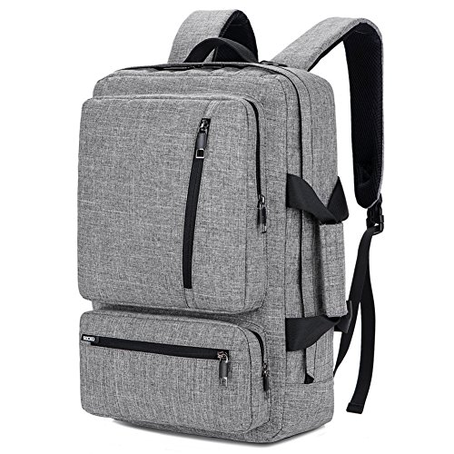 SOCKO 17 Inch Laptop Backpack with Side Handle and Shoulder Strap,Travel Bag Hiking Knapsack Rucksack College Student Shoulder Back Pack For Up to 17 Inches Laptop Notebook Computer, Grey-Black