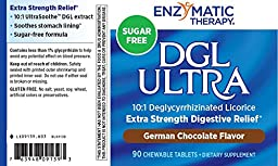 Enzymatic Therapy DGL Ultra German Chocolate Fructose Free Chewable Tablets, 90 Count