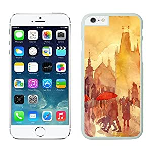 Awesome Soft Iphone 6 Case 4.7 Inches, Diy Art Watercolor Romantic Design Durable Soft Silicone White Phone Case Cover for Apple Iphone 6 by supermalls
