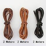 LolliBeads (TM) 3 mm Genuine Leather Cord Braiding