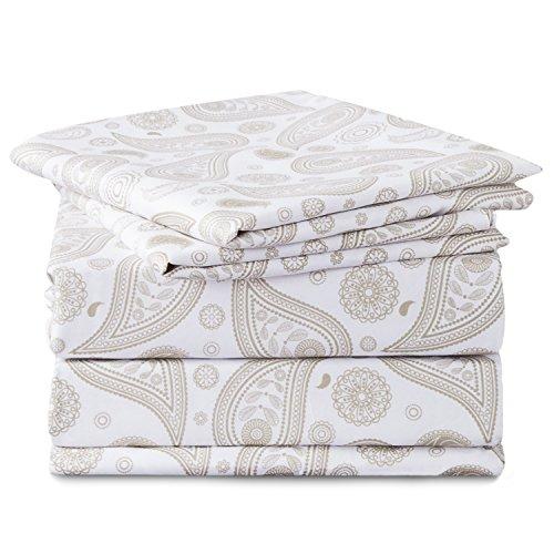 Bedsure Paisley Printed Floral Sheet Set Twin XL Size