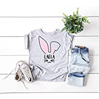 baby girl's first easter outfit toddler shirt bunny tee personalized child t-shirt