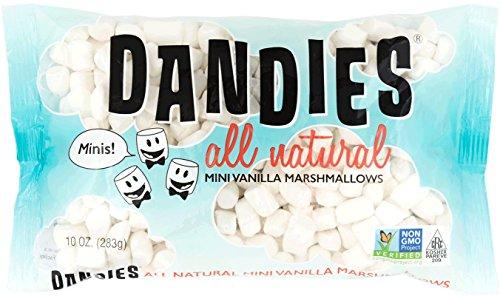 Dandies - Minis - Vegan Marshmallows, Vanilla, 10 Ounce (Pack of 4)