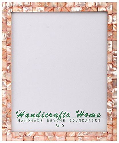 8x10 Picture Frames Chic Photo Frame Mother of Pearl Handmade Vintage from Handicrafts Home (8x10, (Handmade Picture Frames)