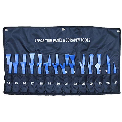 Highking Tool Trim Car Body Auto Door Panel Dashboard Removal Pry Pullers Garage Tool Set (27 pc kit)