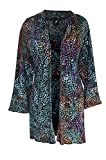 Women's PLUS SIZE Tunic Cardigan | Light Jersey Knit | Hanky Hem, O/S (1X-3X)