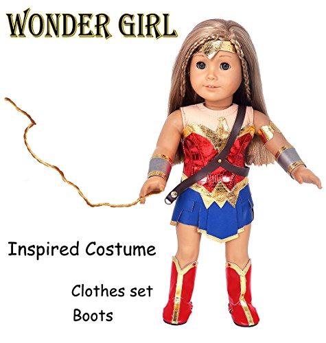 Ebuddy 8pc/Set Wonder Girl Princess Diana Inspired Costume L