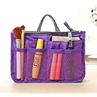 Sandinged Double Zipper Travel Cosmetic Storage Bag