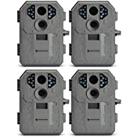 Stealth Cam P12 IR Trail Hunting Game Camera, 4-Pack (Certified Refurbished)