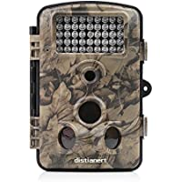 Distianert Game and Trail Camera 12MP 1080P HD Hunting Camera Deer Camera Wildlife Camera with 42 Pcs IR LEDs for Clear Night Version, 120 Wide Angle, 2.4 LCD Display, Waterproof Infrared Camera