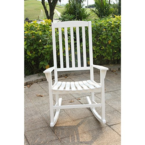 White Porch Rocking Chair, Made of Sturdy Mahogany