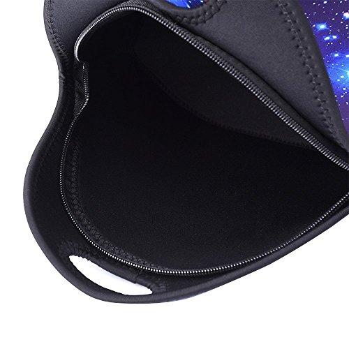 Artone Universo Verde Galaxy Ocasional Del Bolso De Crossbody Del Bolso De Hombro Campus Fit Ipad Azul conjunto de 3
