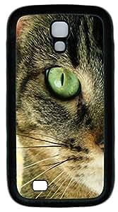 Samsung Galaxy S4 I9500 Cases & Covers -Closeup Cat Animal Custom TPU Soft Case Cover Protector for Samsung Galaxy S4 I9500¨CBlack