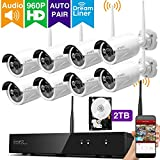 [Audio & Video] xmartO 8 Channel 960p HD Wireless Surveillance Camera System with 8 HD Infrared Outdoor WiFi Cameras and 2TB Hard Drive, Dream Liner WiFi Relay, NVR Built-in Router, Auto-Pair