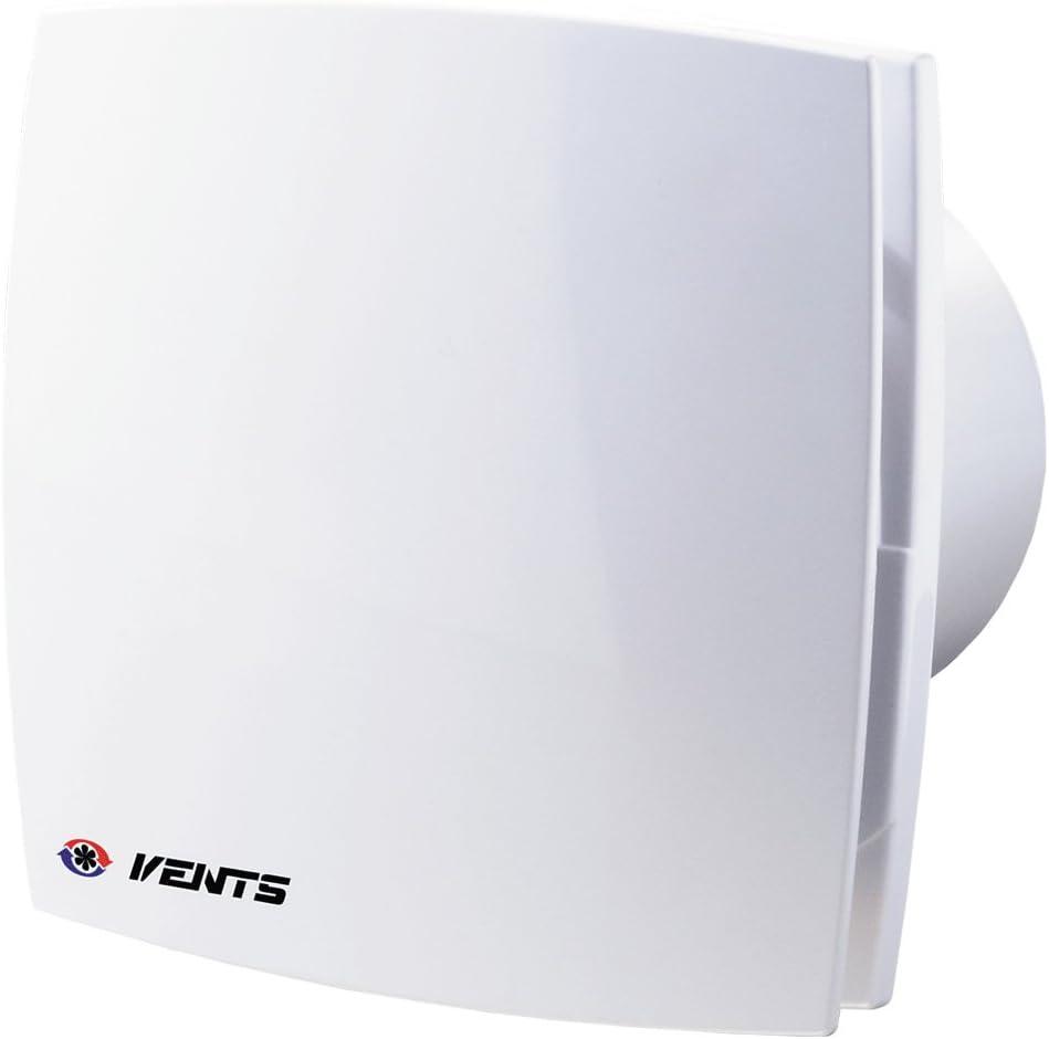 Vents LD Standard Lüfter Bad Ventilator WC Badlüfter leise und stark,  Kugellager (Ø 18 mit Rückschlagventil)