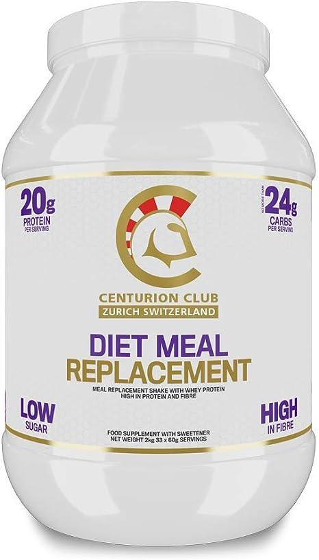 Centurion Club Nutrition Diet Batido de Reemplazo de Comidas – Fórmula de Proteína de Suero de Leche y de Alto Contenido de Fibra Con Sólo 24g de ...