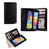 Cooper Cases(TM) Infinite Pro BlackBerry Z3 / Z30 / Leap Smartphone Leather Wallet in Black (Universal Fit; Soft, Fine-Grain PU Leather; Card Slots; ID Holder; Billfold)