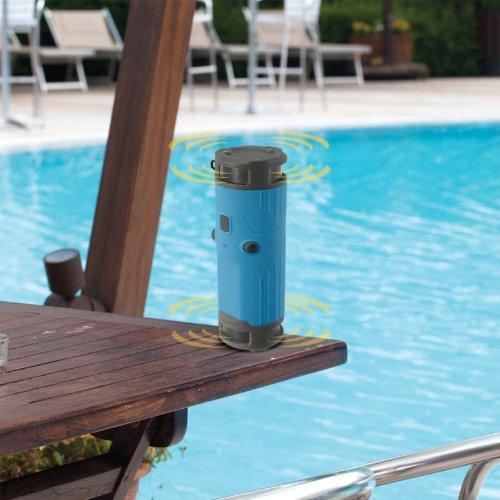 SCOSCHE BTBTLBL boomBOTTLE Weatherproof Wireless Portable Speaker - Retail Packaging - Blue/Black