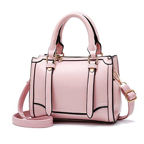 Black Gsaydnee Para Hombro Bolsos Pequeños Pink Cuero Mujeres color Vintage Pu De qZaFvwq
