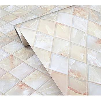 Pretty 1 Ceramic Tiles Huge 12 X 12 Ceramic Tile Clean 12X12 Ceiling Tile 1950S Floor Tiles Youthful 2 X 2 Ceiling Tile Orange2 X 4 Drop Ceiling Tiles Amazon.com: BESTERY Self Adhesive Backsplash Tiles Marble Gloss ..