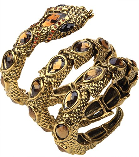 YACQ Jewelry Women's Crystal Stretch Snake Bracelet for Women Halloween Costume Outfit -